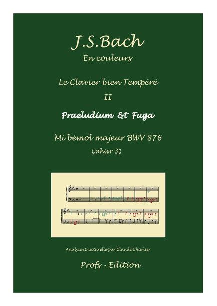 Clavier Bien Tempéré 2 BWV 876 - Analyse - CHARLIER C. - page de garde