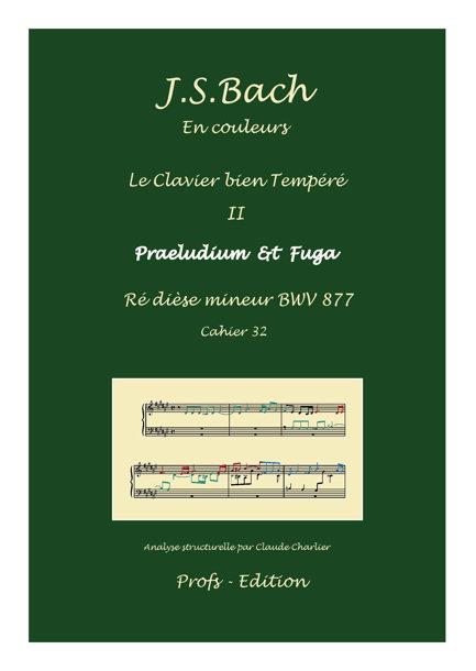 Clavier Bien Tempéré 2 BWV 877 - Analyse - CHARLIER C. - page de garde