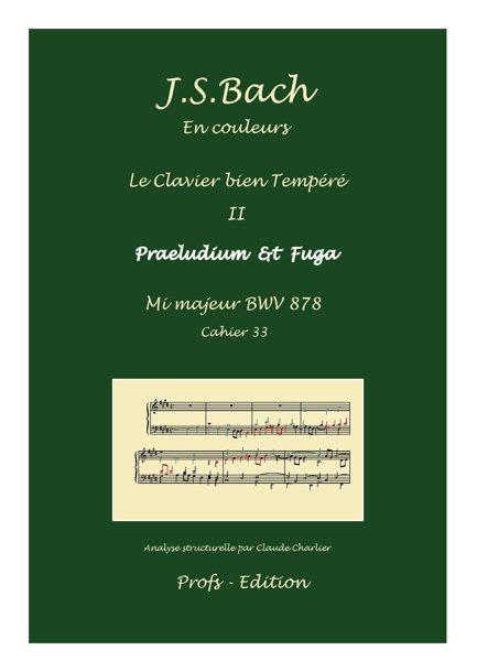 Clavier Bien Tempéré 2 BWV 878 - Analyse - CHARLIER C. - page de garde