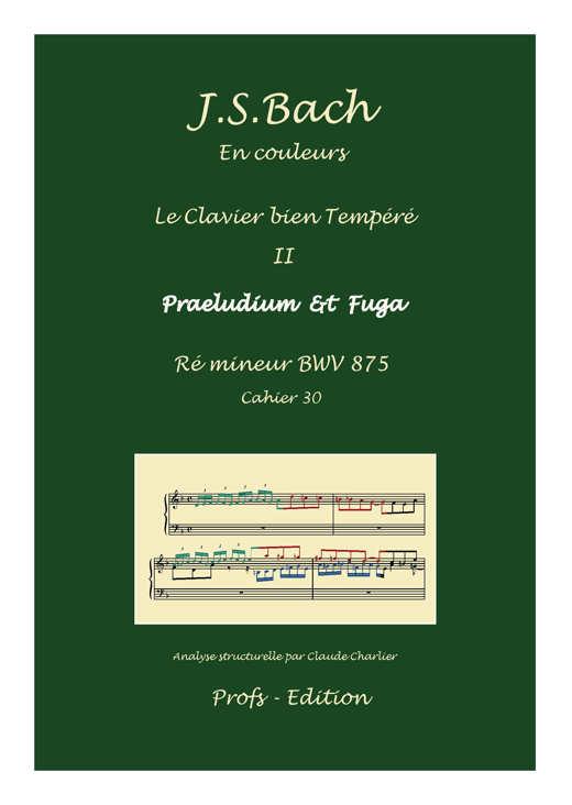 Clavier Bien Tempéré 2 BWV 875 - Analyse - CHARLIER C. - page de garde