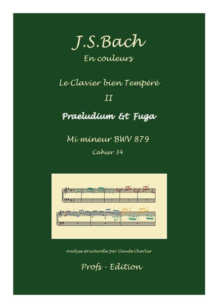 Clavier Bien Tempéré 2 BWV 879 - Analyse - CHARLIER C. - page de garde
