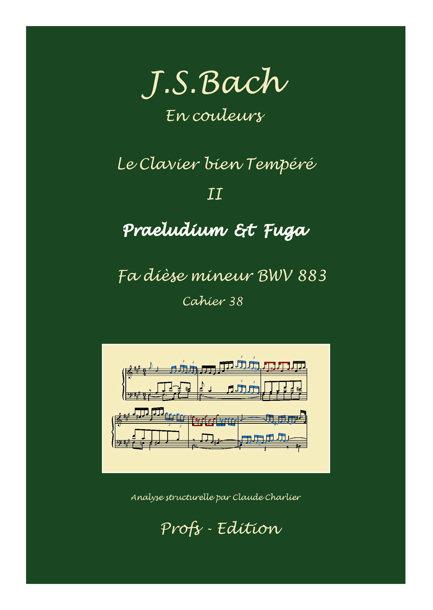 Clavier Bien Tempéré 2 BWV 883 - Analyse - CHARLIER C. - page de garde