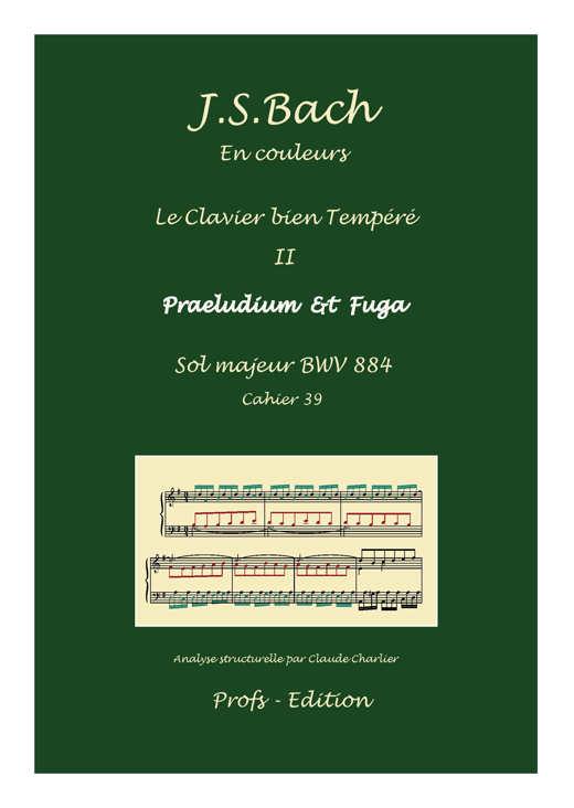Clavier Bien Tempéré 2 BWV 884 - Analyse - CHARLIER C. - page de garde