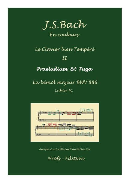 Clavier Bien Tempéré 2 BWV 886 - Analyse - CHARLIER C. - page de garde