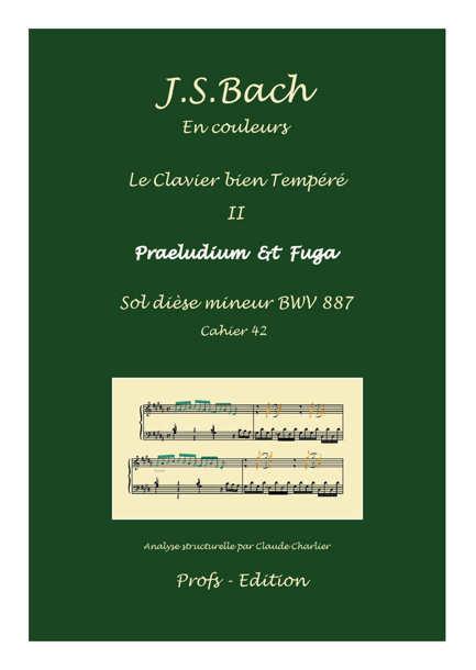 Clavier Bien Tempéré 2 BWV 887 - Analyse - CHARLIER C. - page de garde