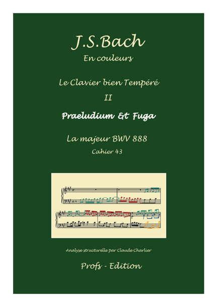 Clavier Bien Tempéré 2 BWV 888 - Analyse - CHARLIER C. - page de garde