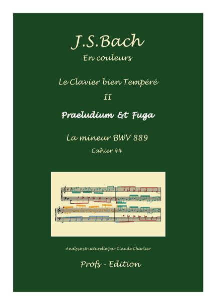 Clavier Bien Tempéré 2 BWV 889 - Analyse - CHARLIER C. - page de garde