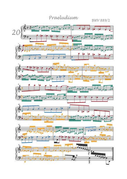 Clavier Bien Tempéré 2 BWV 889 - Analyse - CHARLIER C. - app.scorescoreTitle