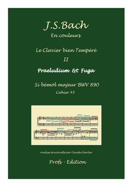 Clavier Bien Tempéré 2 BWV 890 - Analyse - CHARLIER C. - page de garde