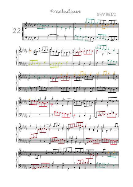Clavier Bien Tempéré 2 BWV 891 - Analyse - CHARLIER C. - Partition