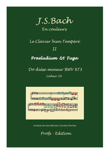 Clavier Bien Tempéré 2 BWV 873 - Analyse - CHARLIER C. - page de garde