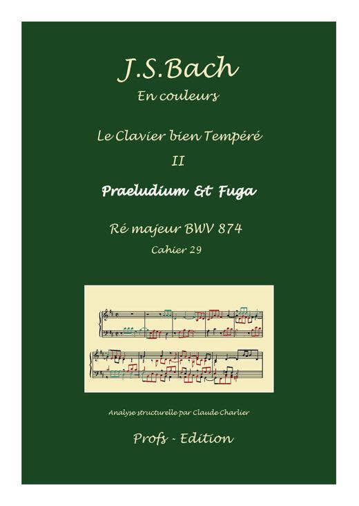 Clavier Bien Tempéré 2 BWV 874 - Analyse - CHARLIER C. - page de garde