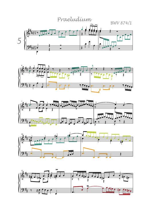 Clavier Bien Tempéré 2 BWV 874 - Analyse - CHARLIER C. - app.scorescoreTitle