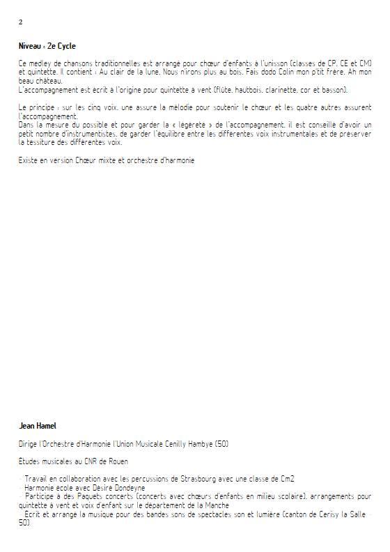 Chansons de toujours Vol.1 - Ensemble Variable - TRADITIONNEL FRANCAIS - Fiche Pédagogique