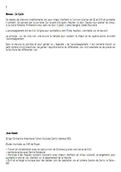 Chansons de toujours Vol.2 - Ensemble Variable - TRADITIONNEL FRANCAIS - Fiche Pédagogique