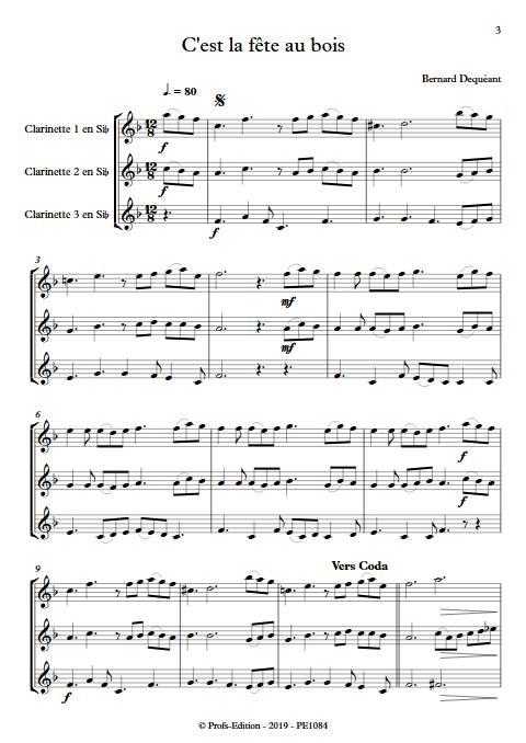 C'est la fête au bois - Trio de Clarinettes - DEQUEANT B. - Partition
