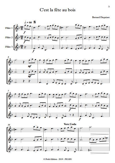 C'est la fête au bois - Trio de Flûtes - DEQUEANT B. - app.scorescoreTitle