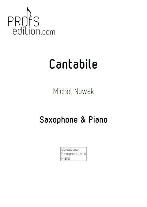 Cantabile- Saxophone Piano - NOWAK M. - page de garde
