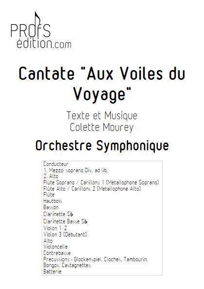 Cantate Aux Voiles du Voyage - Orchestre Symphonique - MOUREY C. - page de garde