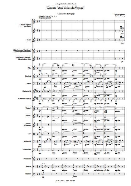 Cantate Aux Voiles du Voyage - Orchestre Symphonique - MOUREY C. - app.scorescoreTitle