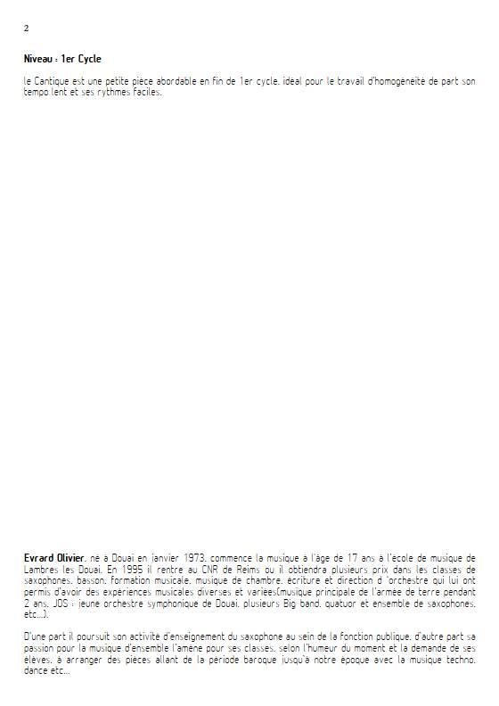 Cantique de Jean Racine - Quatuor de saxophones et clavier - FAURE G. - Fiche Pédagogique