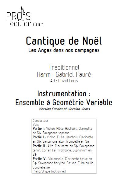 Les Anges dans nos campagnes - Ensemble à Géométrie Variable - TRADITIONNEL - page de garde