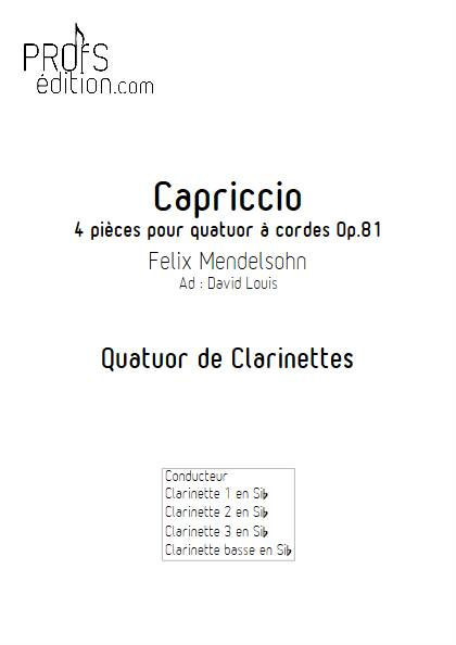 Capriccio - Quatuor de Clarinettes - MENDELSSOHN F. - page de garde