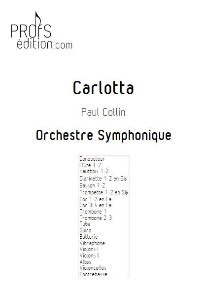 Carlotta - Orchestre Symphonique - COLLIN P. - page de garde