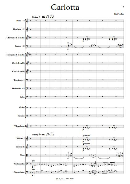 Carlotta - Orchestre Symphonique - COLLIN P. - app.scorescoreTitle