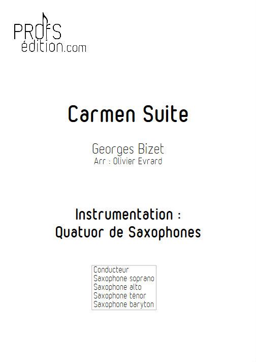 Carmen Suite - Quatuor de Saxophones - BIZET G. - page de garde