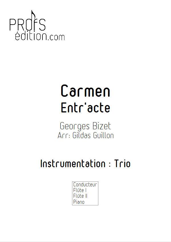 Carmen, Entracte -Trio 2 Flûtes & Piano - BIZET G. - page de garde