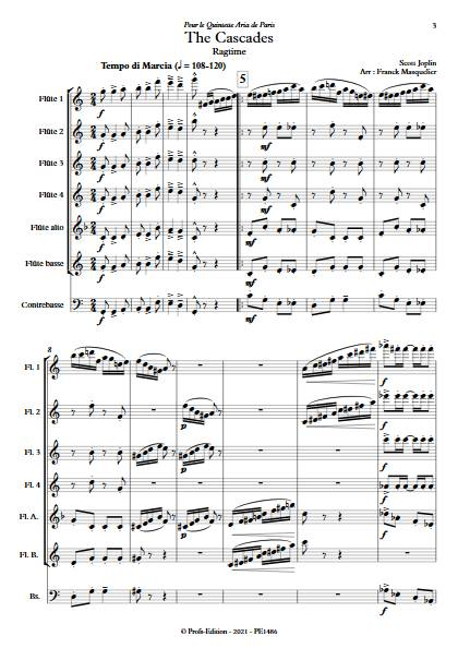 The Cascades - Ensemble de Flûtes - JOPLIN S. - app.scorescoreTitle