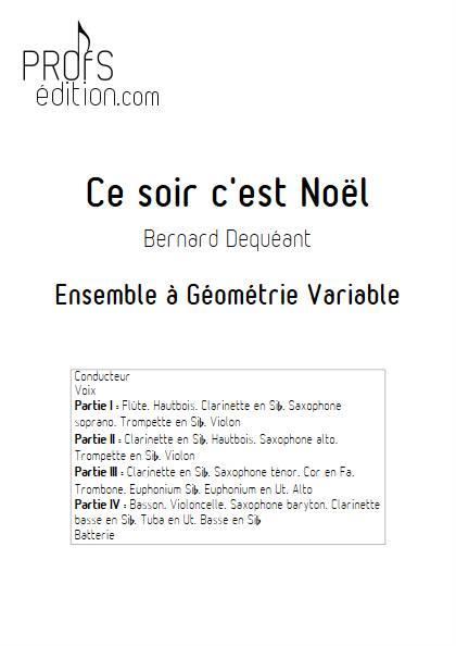 Ce soir c'est Noël - Ensemble Variable - DEQUEANT B. - page de garde
