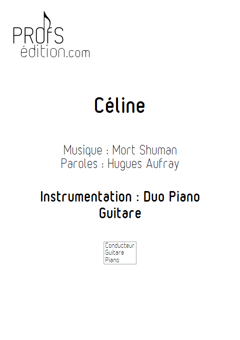 Céline - Duo Vibraphone et Piano - SHUMAN M. BUREL D. - page de garde