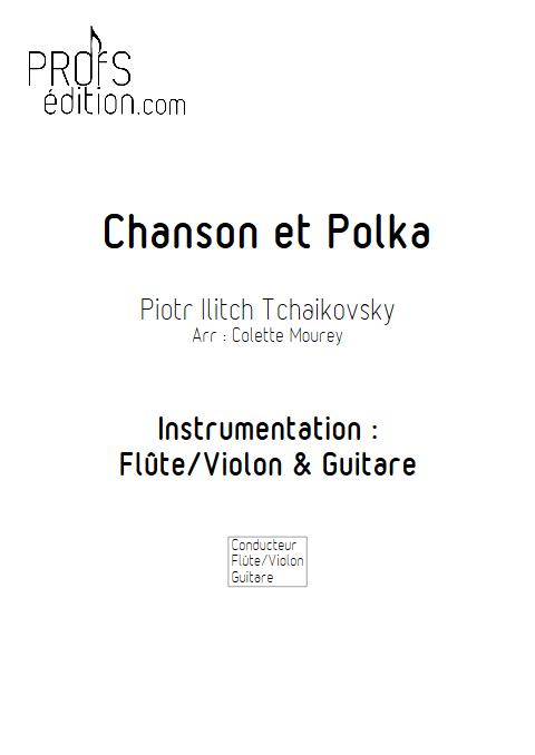Chanson et Polka - Flûte et Guitare - MOUREY C. - page de garde
