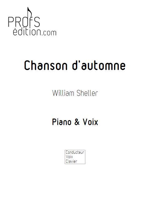 Chanson d'automne - Piano Voix - SHELLER W. - page de garde