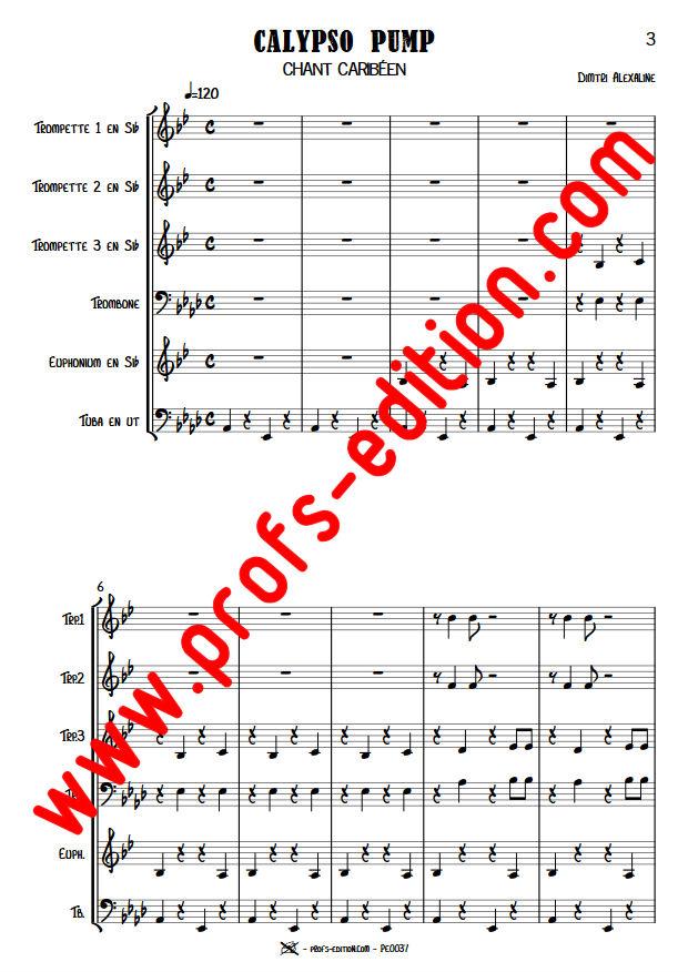Calypso Pump - Sextet Cuivres - ALEXALINE D. - app.scorescoreTitle