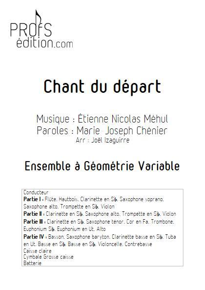 Chant du départ - Ensemble Variable - MEHUL E. N. - page de garde