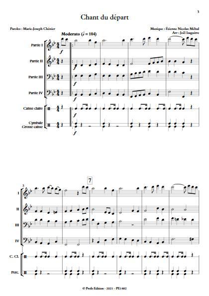 Chant du départ - Ensemble Variable - MEHUL E. N. - app.scorescoreTitle