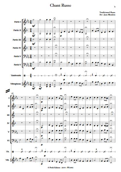 Chant Russe - Ensemble Variable - TRADIONNEL RUSSE - app.scorescoreTitle