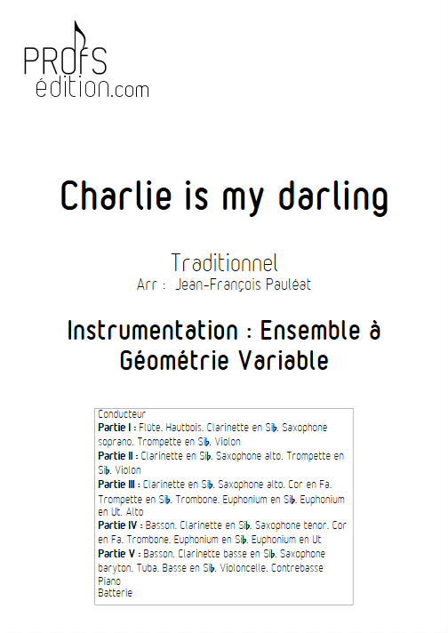 Charlie is my darling - Ensemble à Géométrie Variable - TRAD. IRLANDAIS - page de garde