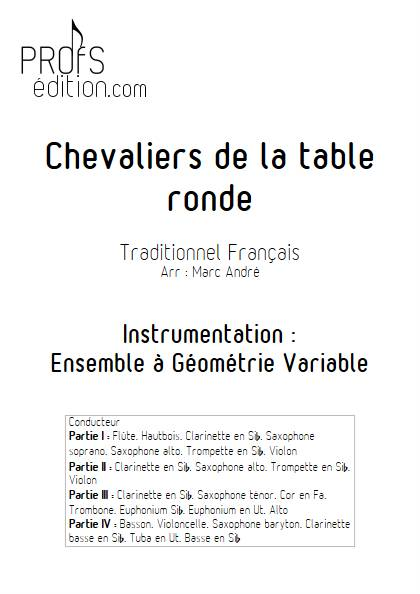 Chevaliers de la table ronde - Ensemble Variable - TRADITIONNEL FRANCAIS - page de garde