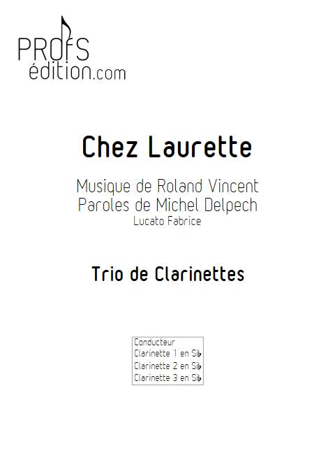 Chez Laurette - Trio de Clarinettes - ROLAND V. - page de garde