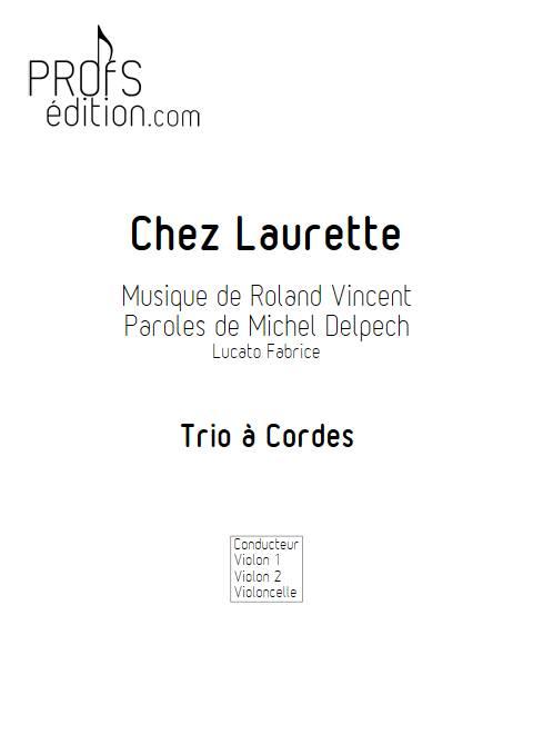Chez Laurette - Trio à cordes - ROLAND V. - page de garde