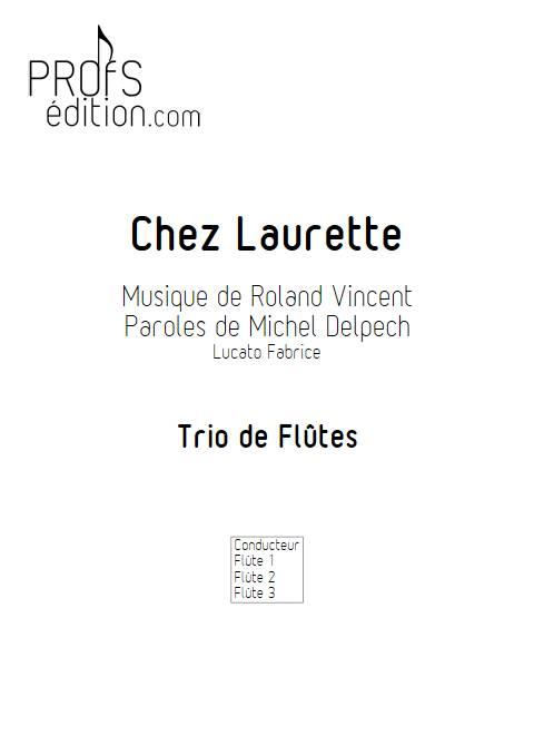 Chez Laurette - Trio Flûtes - ROLAND V. - page de garde