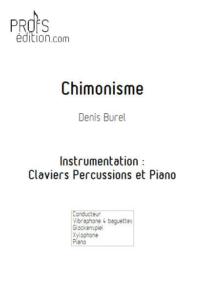 Chimonisme - Duo Claviers Percussions et Piano - BUREL D. - page de garde