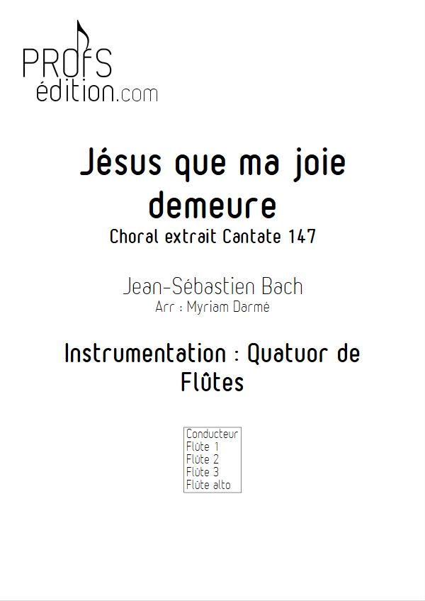 Jésus que ma joie demeure - Quatuor de Flûtes - BACH J. S. - page de garde