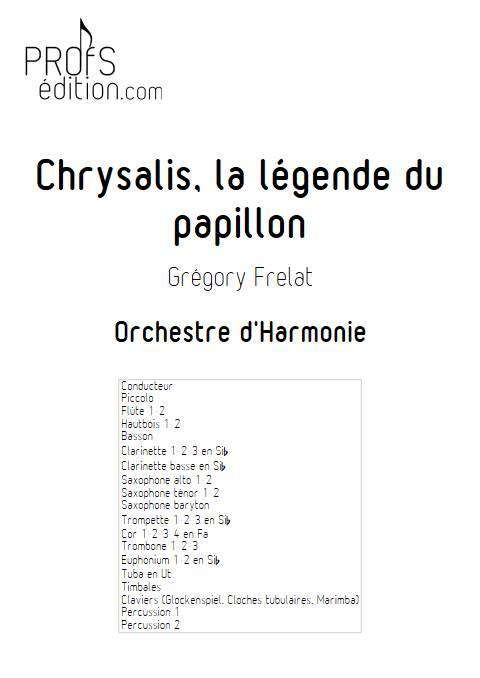 Chrysalis la légende du Papillon - Orchestre d'Harmonie - FRELAT G. - page de garde