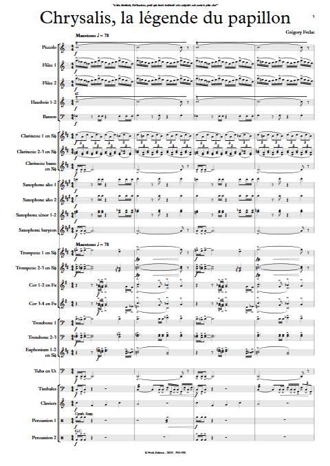 Chrysalis la légende du Papillon - Orchestre d'Harmonie - FRELAT G. - app.scorescoreTitle