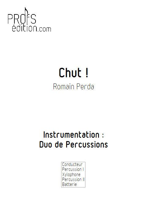 Chut ! - Duo Percussions - PERDA R. - page de garde
